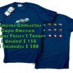 Remeras Camisetas COPA AMERIICA Tallas S/M/L/XL Calidad Premium 1 Unidad $ 150 3 Unidades $ 300