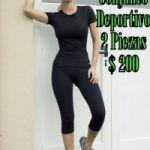 Conjunto Deportivo 2 Piezas Calza Pescadora + Remera O Musculosa O Top Talles S/M/L/XS $ 200