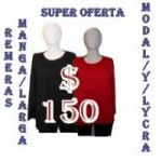 Super Oferta Remeras Manga Larga DAMAS Modal Talles S/M/L/XS X Solo $ 150