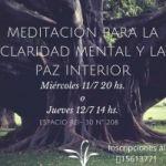 MEDITACIÓN PARA LA CLARIDAD MENTAL Y LA PAZ INTERIOR