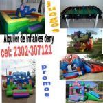 ALQUILER DE JUEGOS Y INFLABLES DANY!!!! CEL: 2302-307121