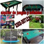 ¡¡¡ALQUILER DE INFLABLES Y JUEGOS DANY!!! CEL: 2302-307121 O VIA FACEBOOK