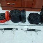 Vendo set de pesas (gimnasio)