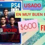 VENDO PES 2818 PS4 USADO FÍSICO $600
