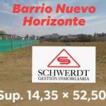 SCHWERDT-GESTION INMOBILIARIA TERRENO EN BARRIO NUEVO HORIZONTE