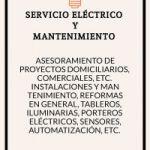 Servicio eléctrico y mantenimiento.