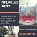 ALQUILER DE INFLABLES Y JUEGOS DANY.. CEL:2302-307121 O VIA FACEBOOK COMO INFLABLES DANY