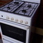 Cocina a gas usada