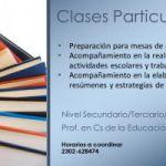 Clases Particulares, preparación para mesas de exámenes..