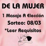 SORTEO DÍA DE LA MUJER 1 SESIÓN DE MASAJE