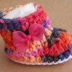 Zapatitos bebé tejidos a mano