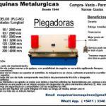 PLEGADORA- MAQUINAS METALURGICAS