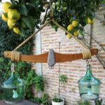 Vendo 2 Lámparas colgantes con ´´damajuanas estilo rústico´´