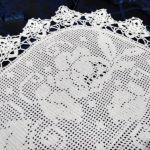 Vendo cubrecama de 2 plazas tejida a crochet