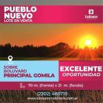 Terreno en Venta, Pueblo Nuevo, Gral. PICO.