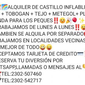 ALQUILER DE INFLABLES LAUTI!!