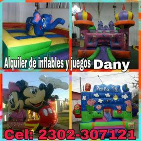 ALQUILER DE PELOTEROS INFLABLES Y JUEGOS DANY... CEL:2302-307121
