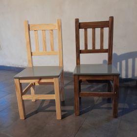 Juego 6 sillas de pino excelente estoado