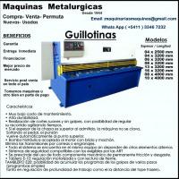 Guillotina -  Maquinas  Metalurgicas