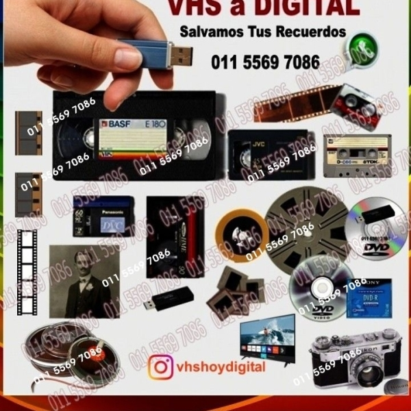 VHS Video mejorado a Digital Pen Drive Apto Smart TV.