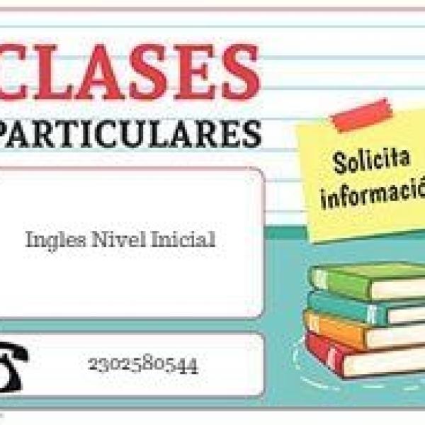 Clases Particular de Ingles Nivel Primario