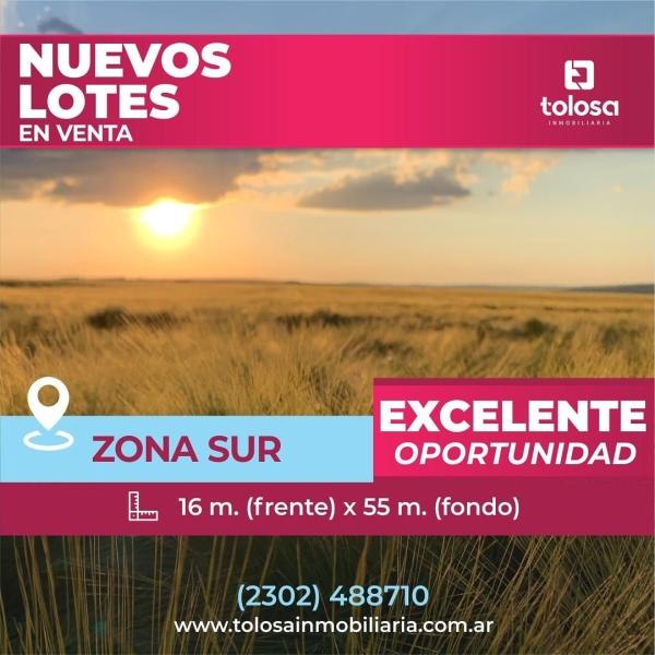 Nuevos lotes en Venta, Zona Sur, con Gas.