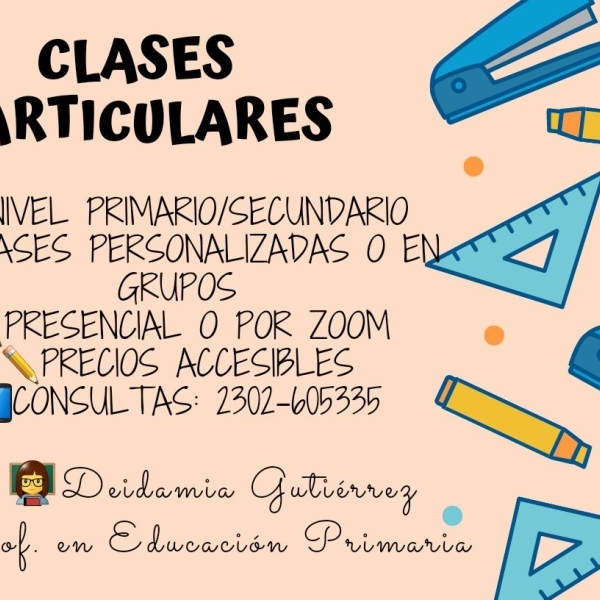 👩🏫✏ CLASES PARTICUALES✏👩🏫