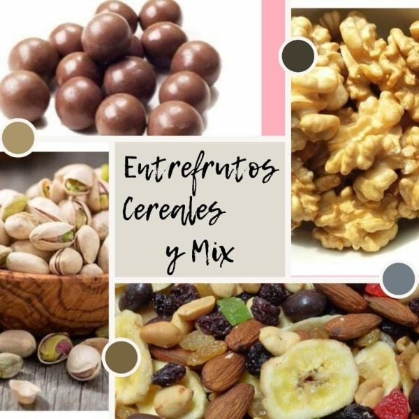 Mix frutos secos y demás cereales.