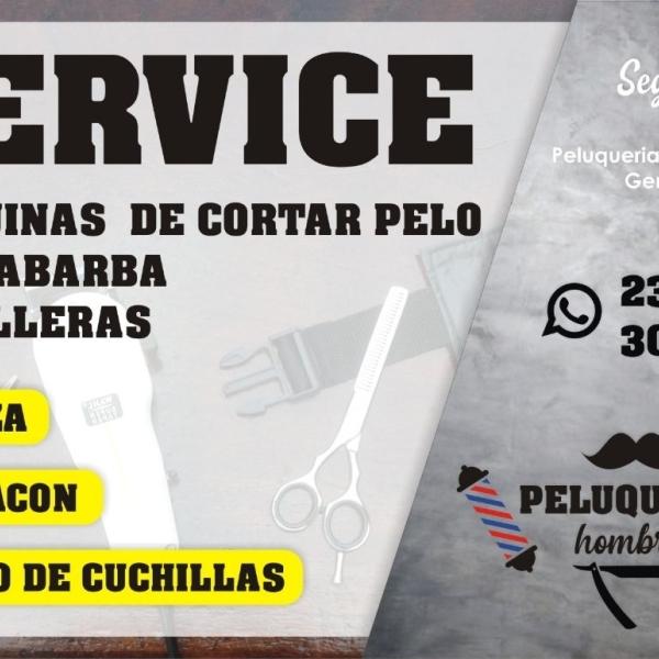 SERVICE para maquinas de cortar pelo / cortabarba / patillera