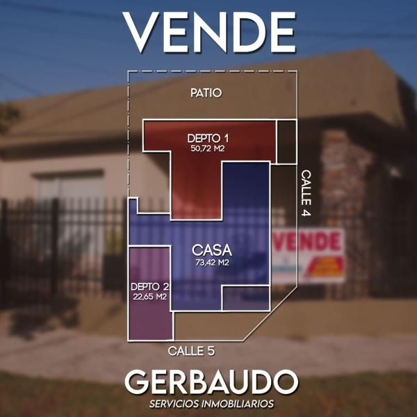 VENDO CASA + 2 DEPTOS EXCELENTE UBICACION