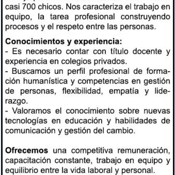 BÚSQUEDA DE DIRECTORA