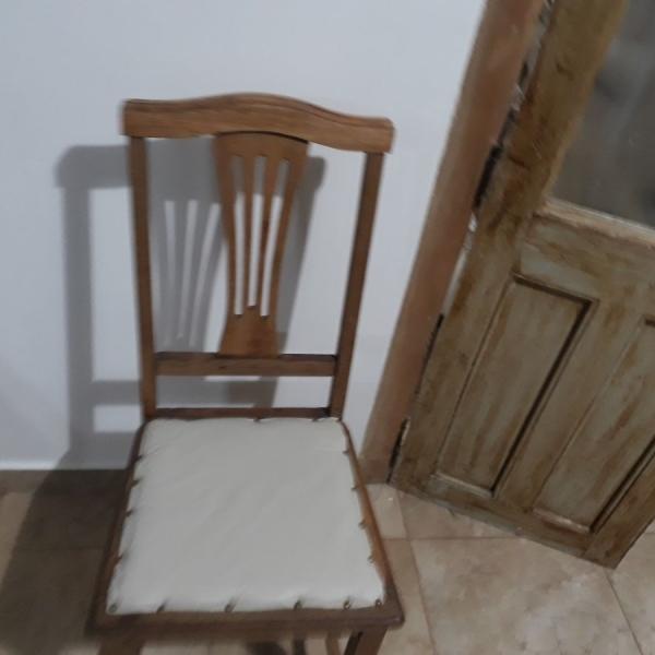 4 sillas antiguas de roble restauradas- valor publicado por c/u-