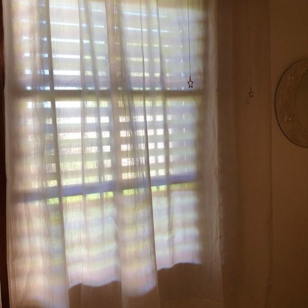 Vendo cortinas tussor blanco