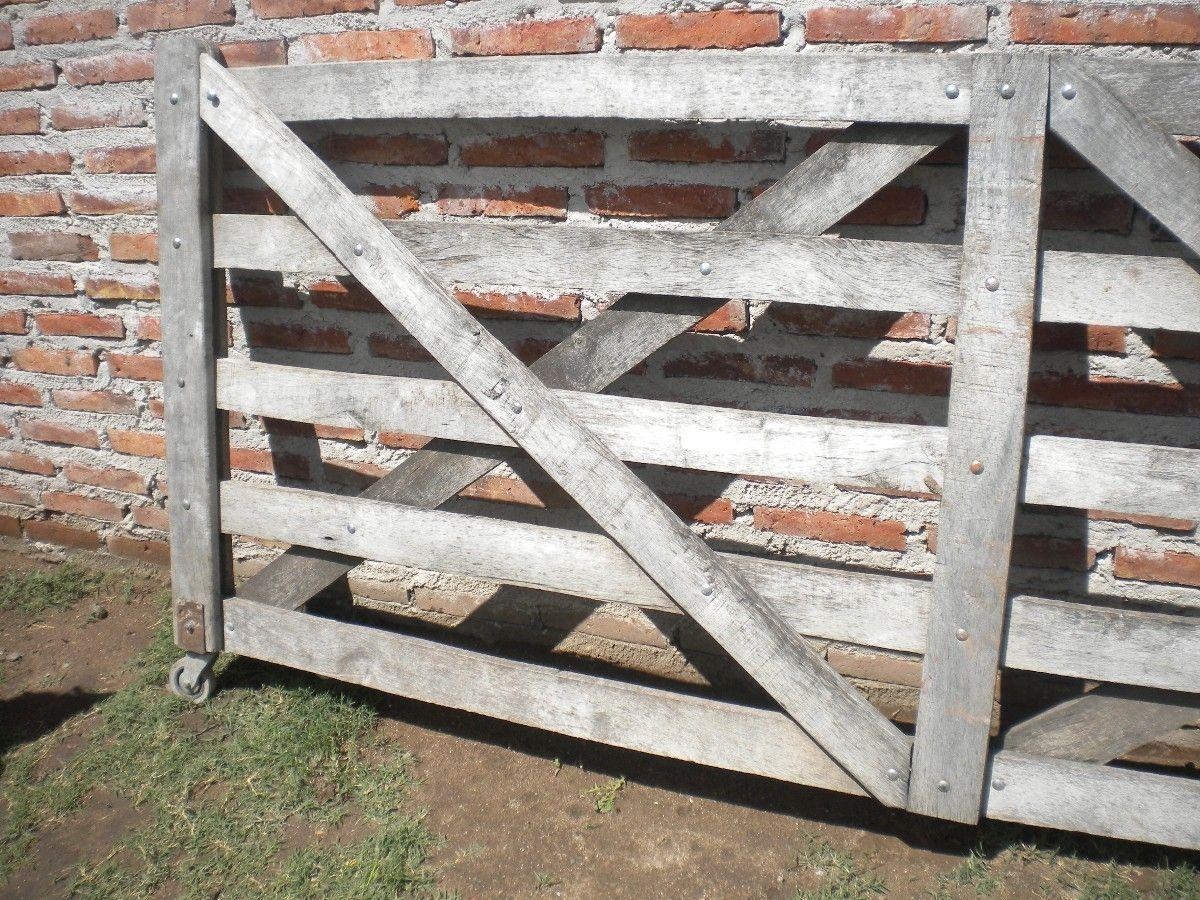 Vendo tranquera de madera para campo o casa quinta de 3 mtrs for Vendo casa madera