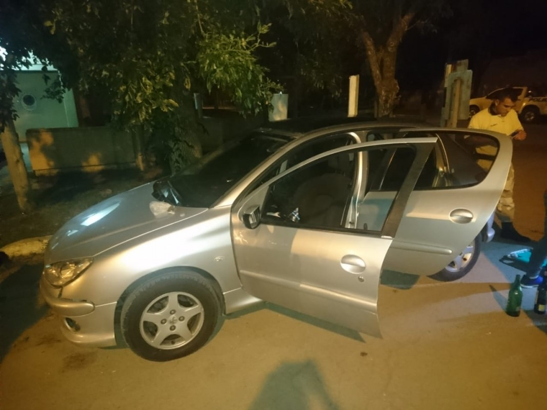El auto es un Peugeot 206