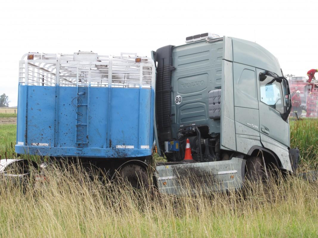 El camión de la localidad de Realicó, La Pampa (Foto: gentileza Diario Actualidad)