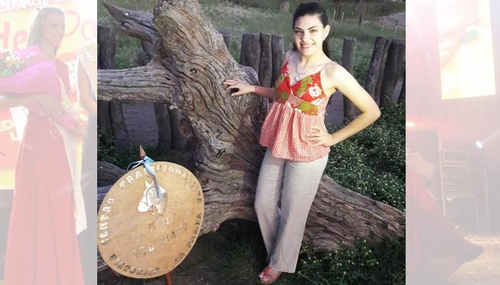 Florencia Aguilar (21 años) representa al Centro Don Valeriano de Victorica
