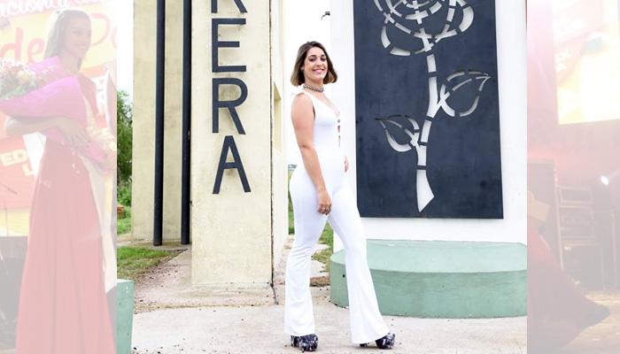Candela Dosio (19 años) representa a la localidad de Parera