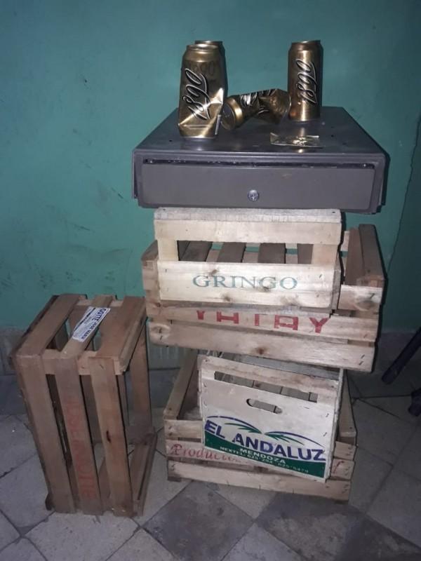 Elementos que habían sido robados del local comercial