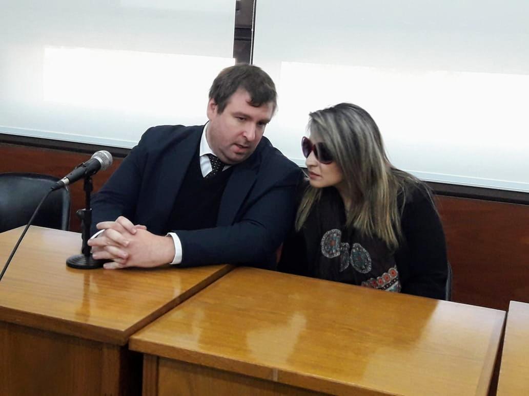 El representante del Ministerio Público Fiscal y la víctima, Alejandra Quiroga