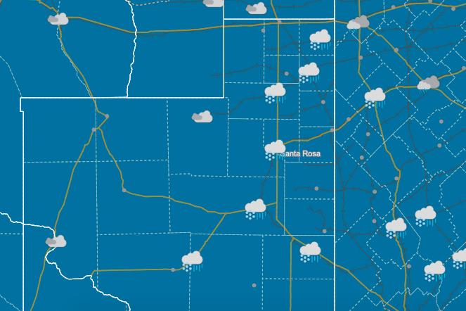 Mapa del Servicio Meteorológico Nacional