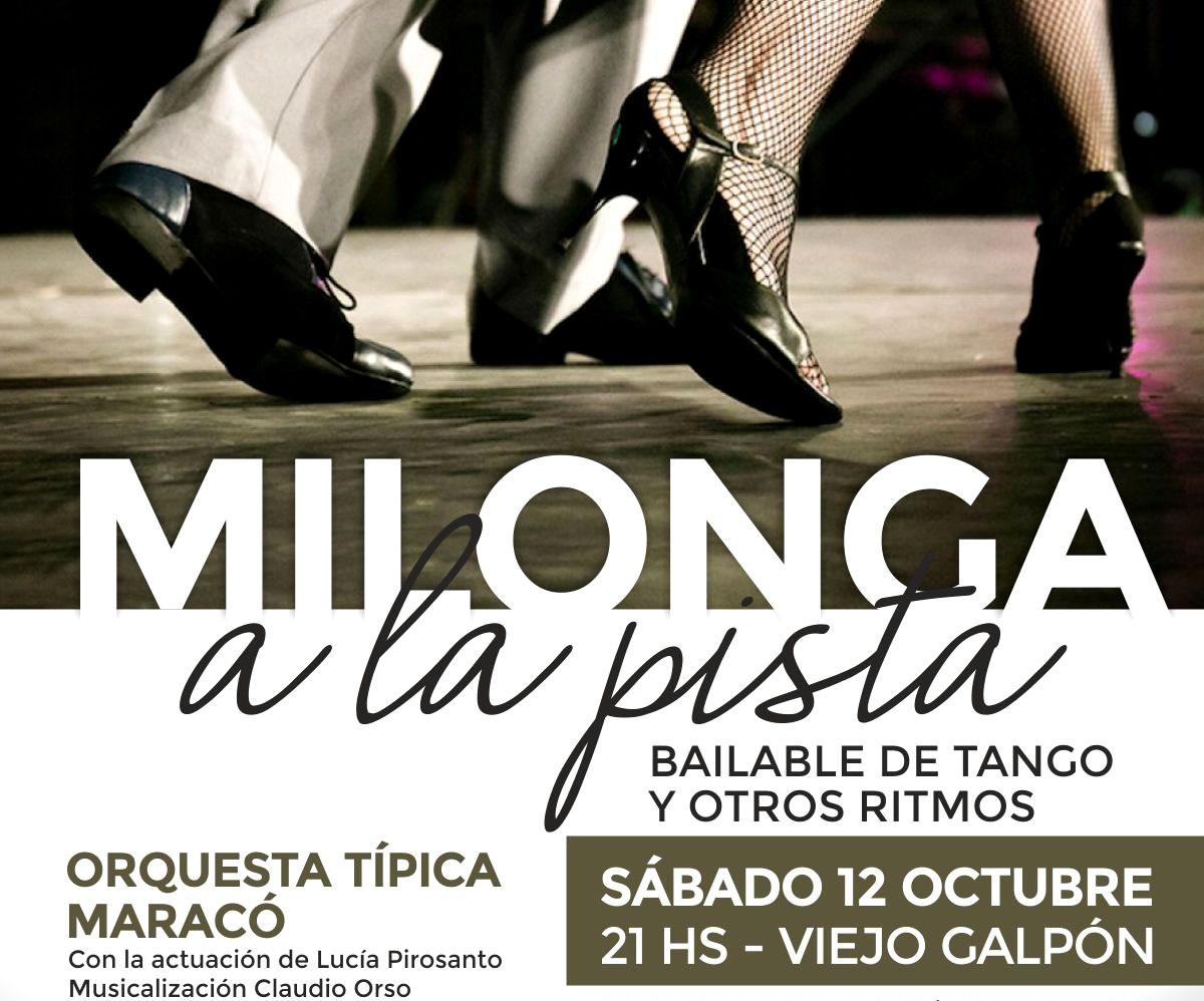 """Hoy se realizará el encuentro de tango """"Milonga a la pista"""" en el Viejo Galpón"""