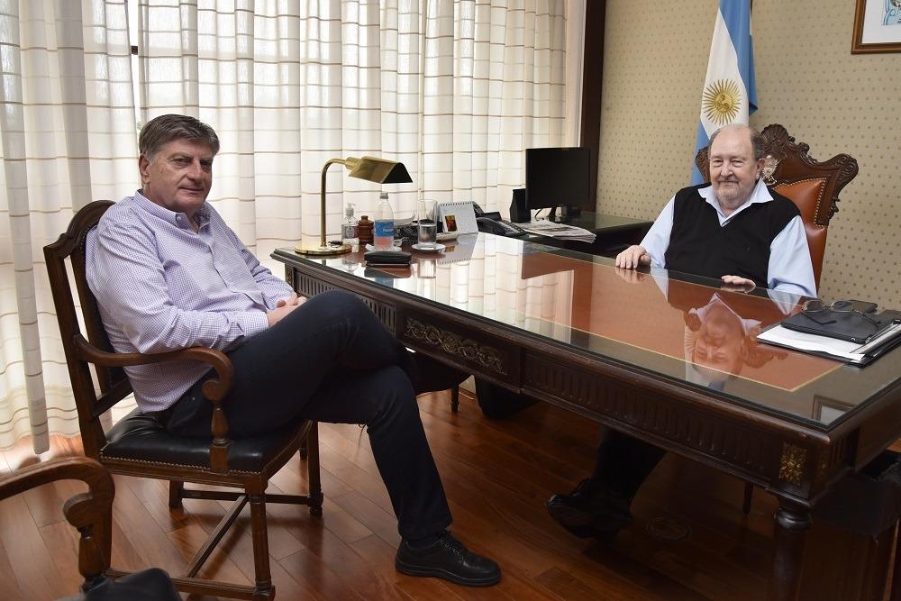 Sergio Ziliotto visitó a Carlos Verna y le habló del encuentro que tuvo con Alberto Fernández