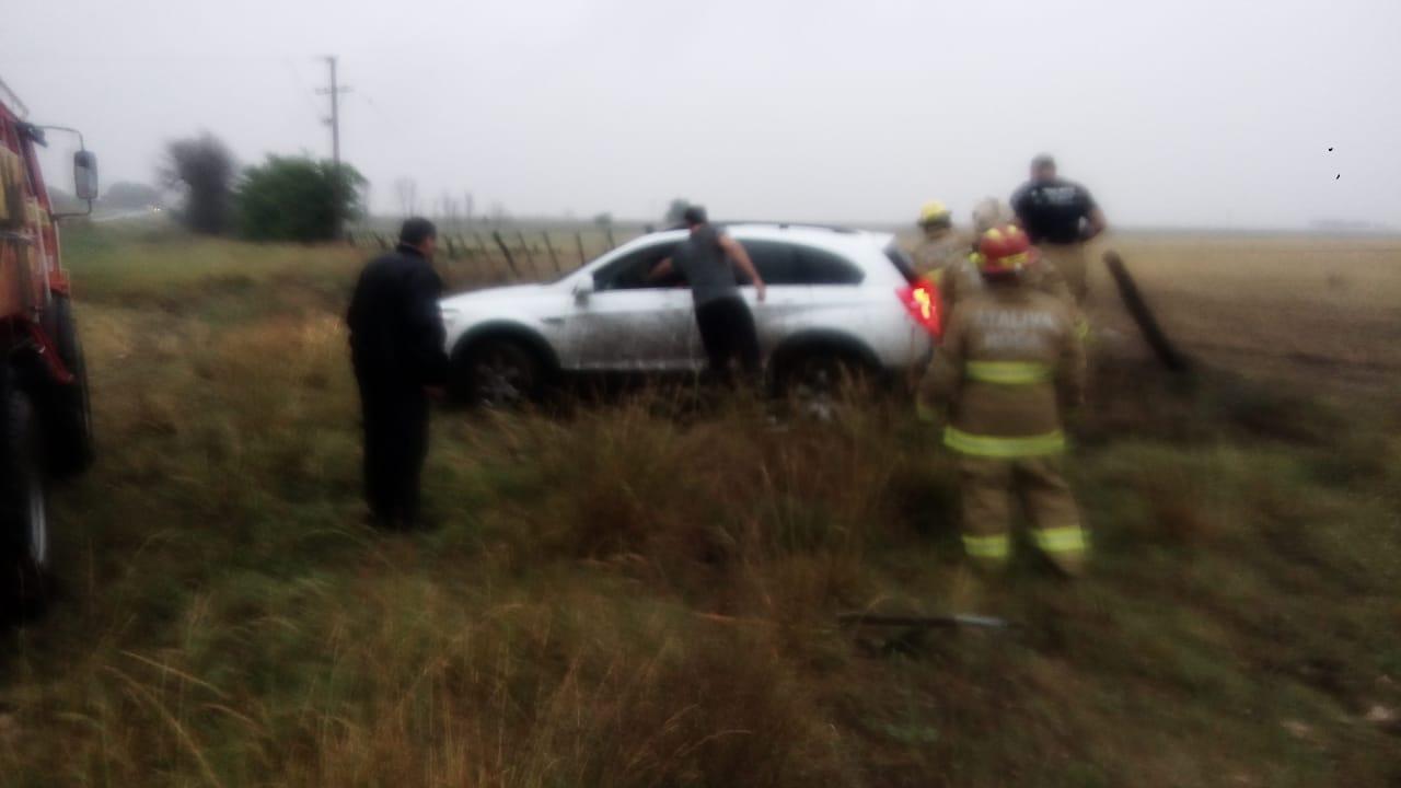 Un diputado provincial se despistó en la Ruta 35 cerca de Ataliva Roca