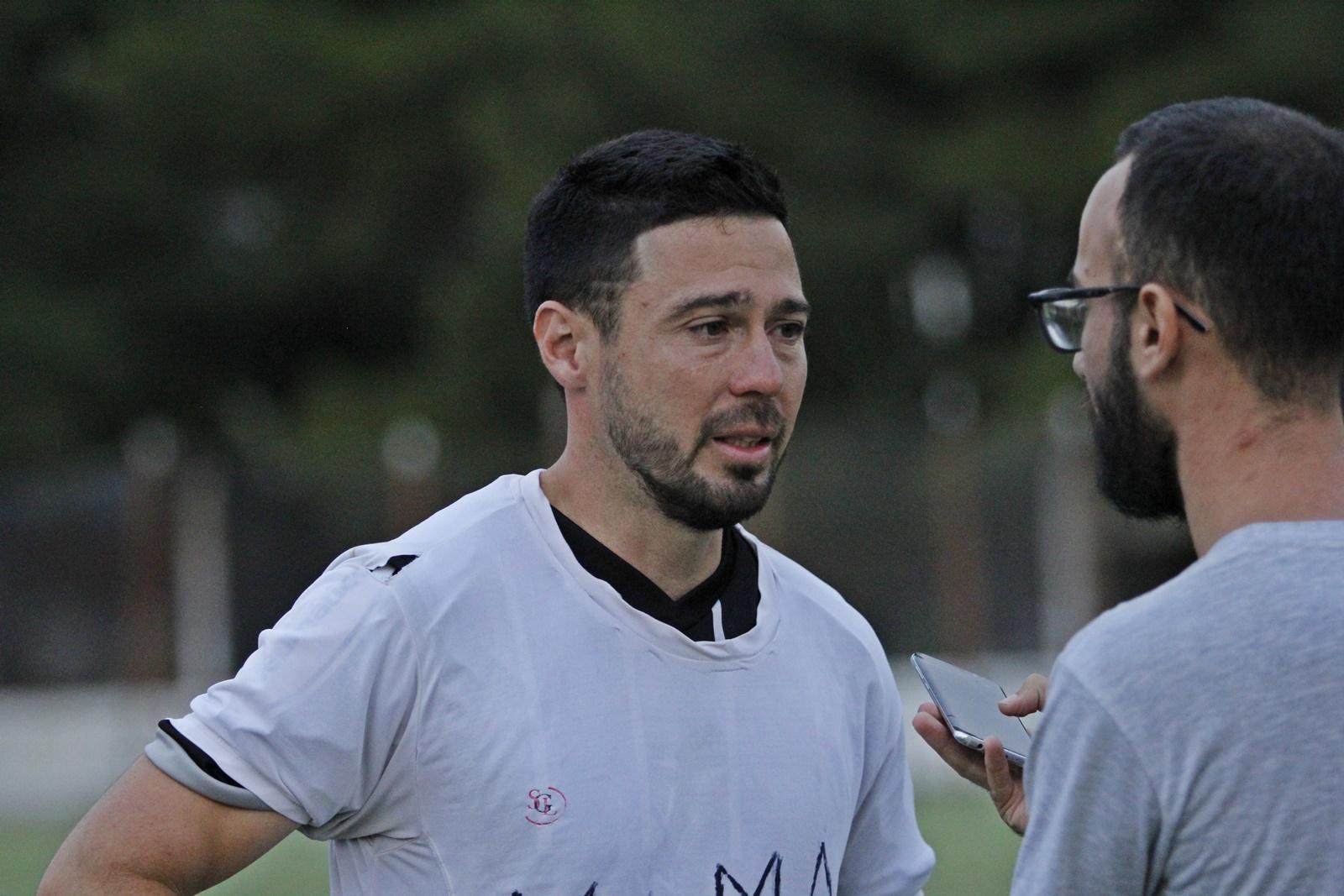 """Juan Galarraga: """"Jugamos muy concentrados"""", dijo el volante de Racing de Castex"""