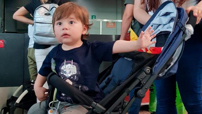 """""""Lauti"""", el pequeño que padece hipoplasia de corazón ya está en Estados Unidos y será sometido a la cirugía que podría salvarle la vida el próximo 22 de noviembre"""