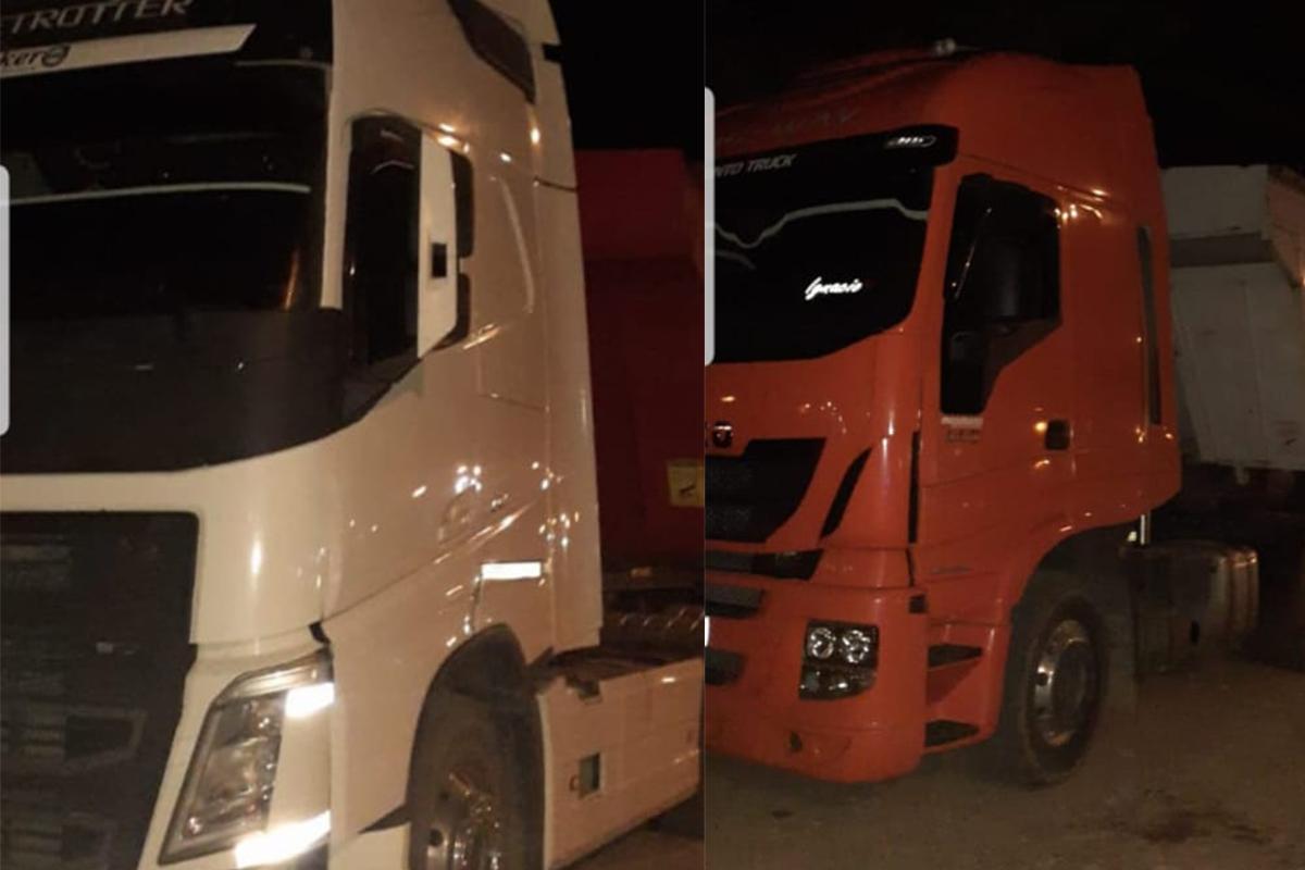 Interceptan a 3 camiones que transportaban cereal sin las cartas de porte