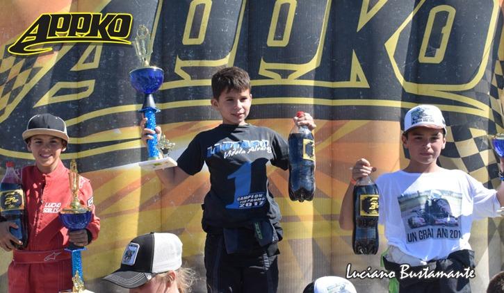 Karting: El piquense, Lautaro Videla, fue el campeón de la categoría escuela en el campeonato de Olavarría