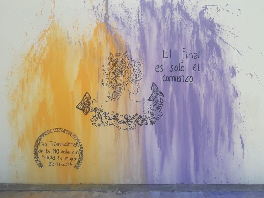 Nuevo mural para el Hogar de Mujeres Rebeca