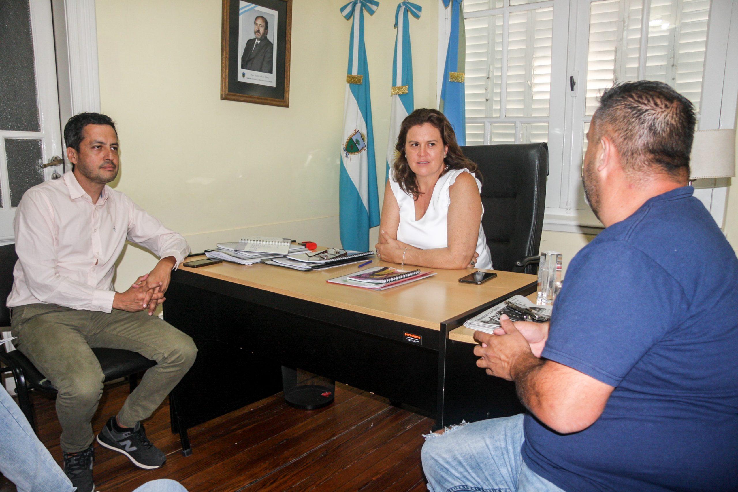Fernanda Alonso se reunió con dirigentes de Ferro: Hablaron del Cebollitas y del trabajo en conjunto con Adultos Mayores
